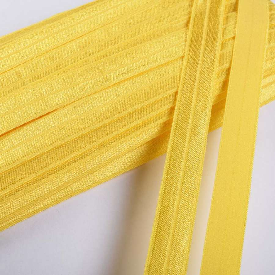 косая бейка стрейч светло-желтая 15 мм