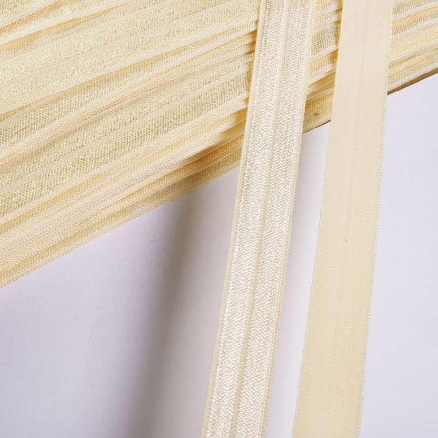 косая бейка стрейч кремовая 15мм