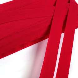 косая бейка стрейч красная 20мм
