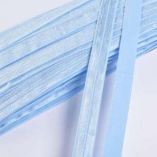Коса бейка стрейч 15 мм блакитна небесна
