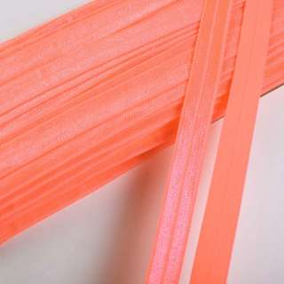 Коса бейка стрейч 15 мм помаранчева неон