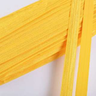 Коса бейка стрейч 15 мм жовта