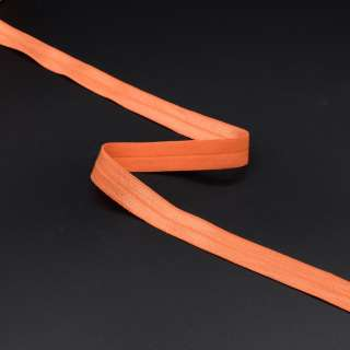 Коса бейка стрейч 15 мм помаранчева