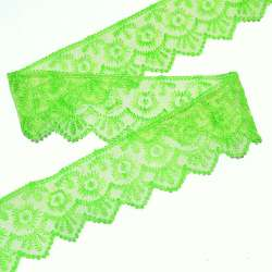Кружево капрон 50мм зеленое