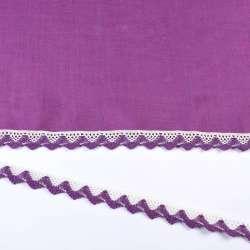 кружево х/б бело-фиолетовое 20мм