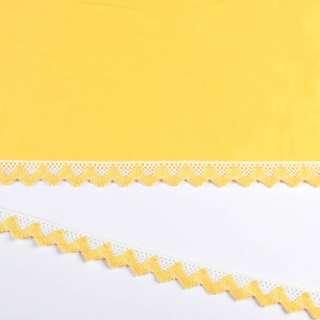 кружево х/б бело-желтое 20мм