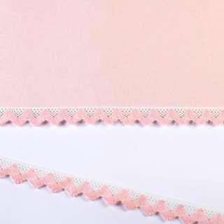 мереживо х / б біло-рожеве 20мм