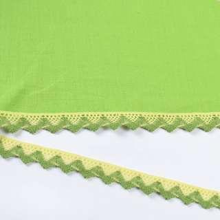 мереживо х / б жовто-зелене 15мм