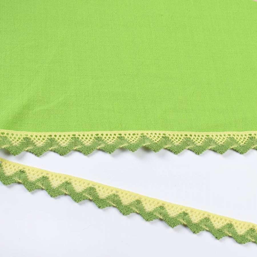 кружево х/б желто-зеленое 15мм