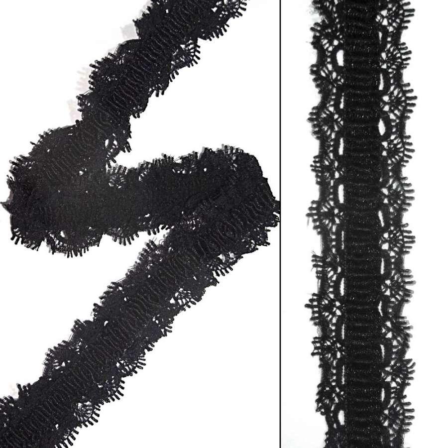 мереживо чорне на гумці ш.3см