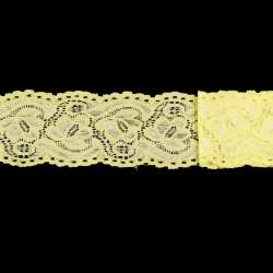 Кружево стрейч 60мм желтое