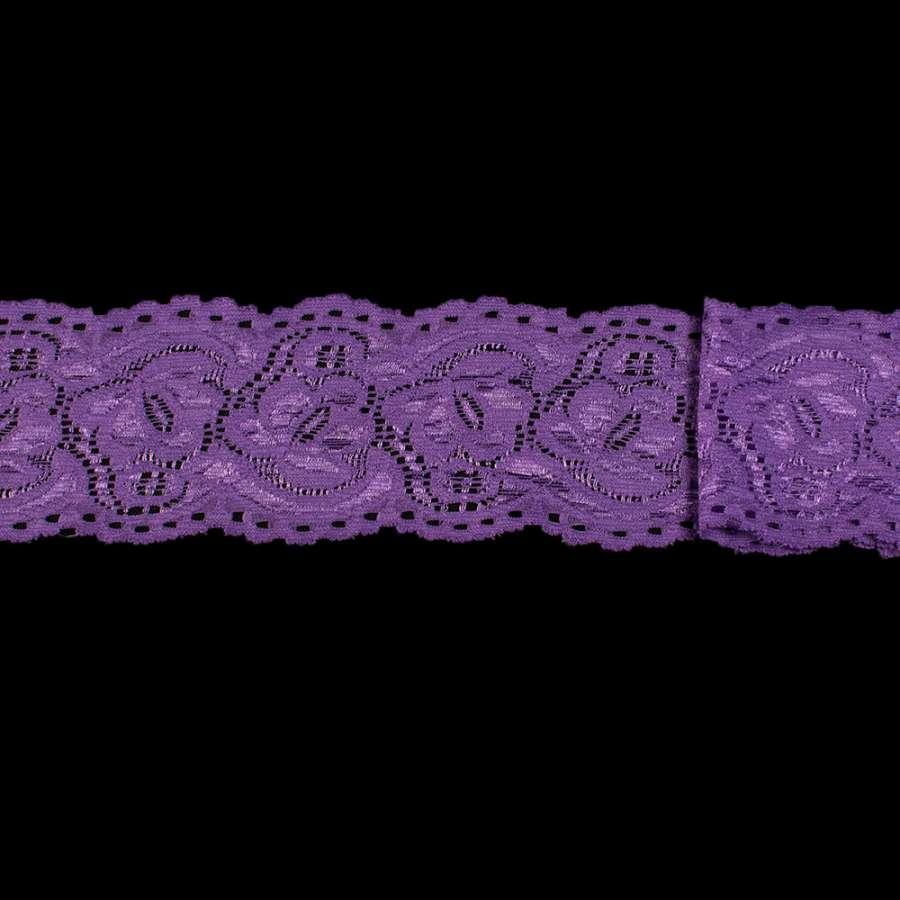 Кружево стрейч фиолетовое ш.6см