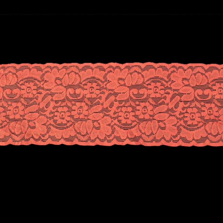 Кружево стрейч коралловое ш.10см