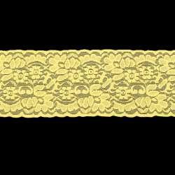 Кружево стрейч желтое ш.10см