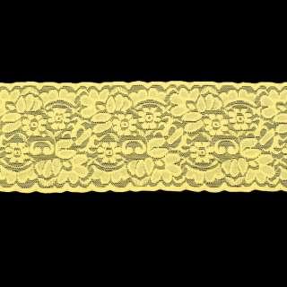 Мереживо стрейч жовте ш.10см