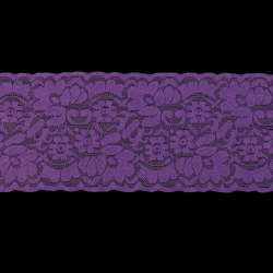 Кружево стрейч 100мм фиолетовое