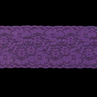 Кружево стрейч фиолетовое ш.10см