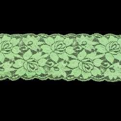 Кружево стрейч салатовое ш.10см