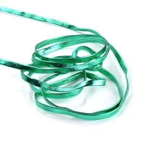 Тесьма кожаная лакированная 5мм зеленая