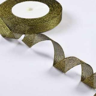 лента отделочная с люрексом темное золото 1,5см