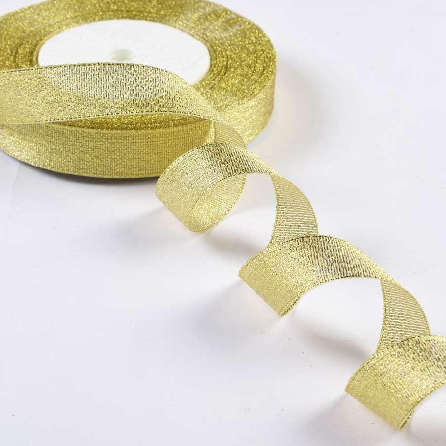 Лента отделочная с люрексом 18мм золото