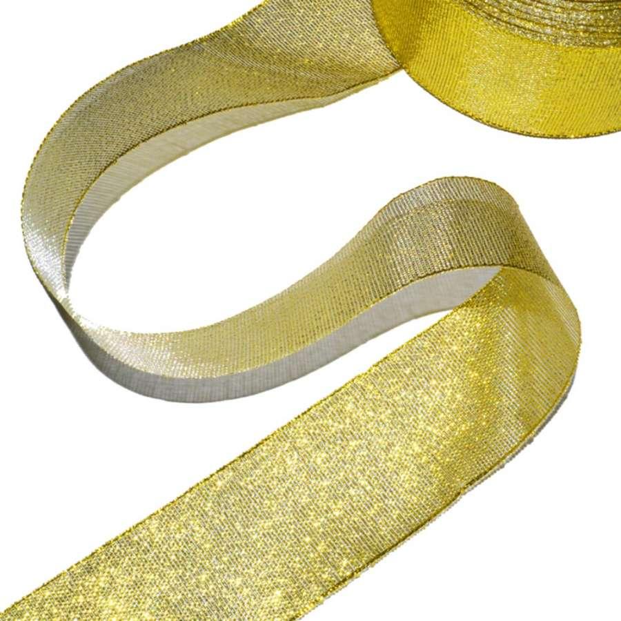 лента с люрекс, золото ш.4см