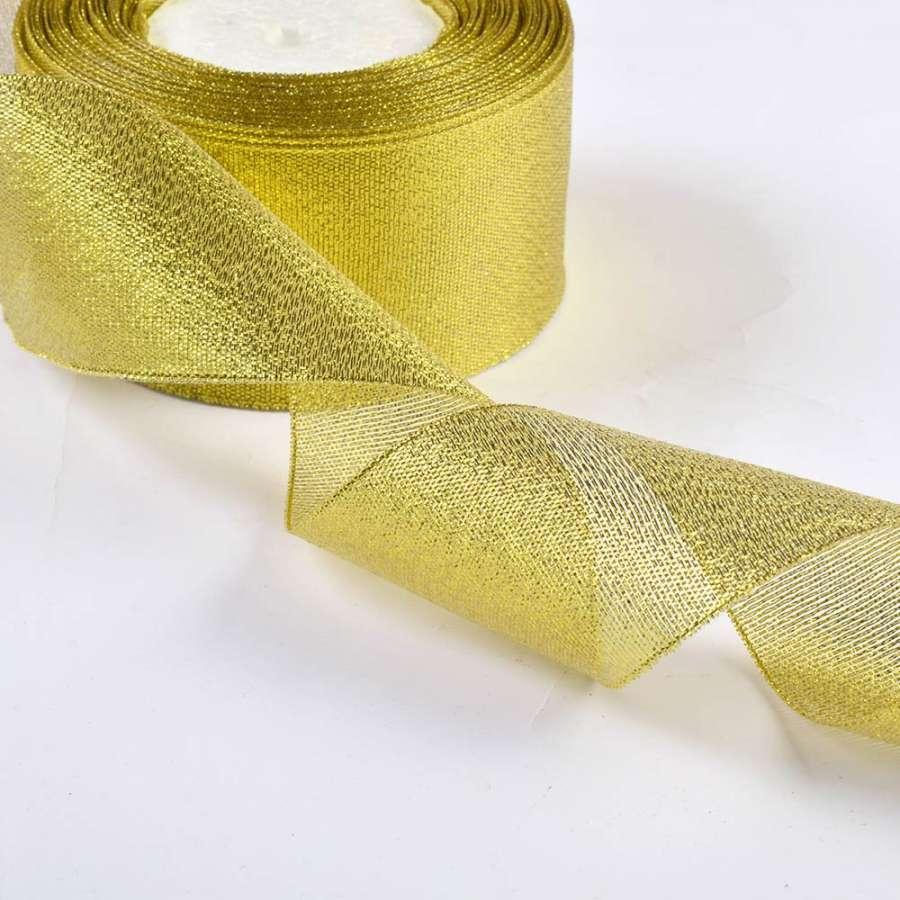 лента отделочная с люрексом золото 5см