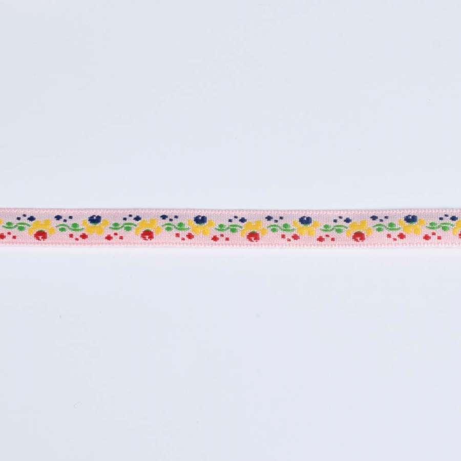 Тасьма оздоблювальна 1 см з квітковим орнаментом