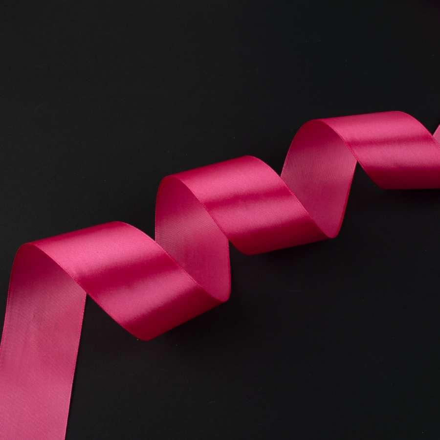 лента атласная 5см розовая темная
