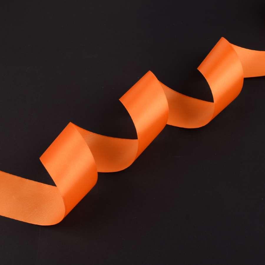 лента атласная 5см оранжевая