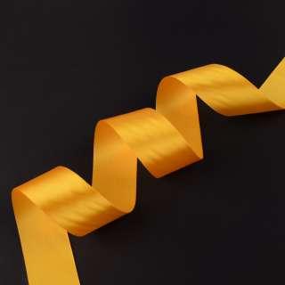лента атласная 5см желтая