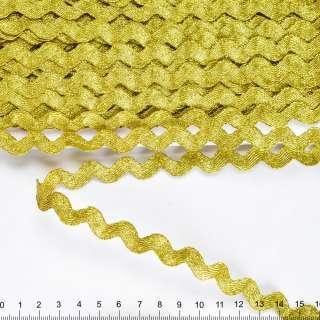 Тасьма березка 15мм темне золото