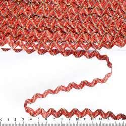 Тесьма вьюнок метанить радуга 15мм красная