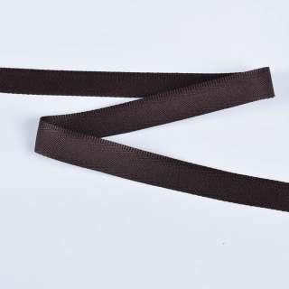 стрічка брючні коричнева темна 15мм 14В13Г27