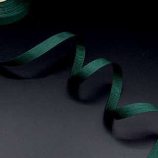 Лента репсовая 10мм зеленая темная