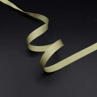 Лента репсовая 10мм оливковая светлая