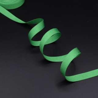 Лента репсовая 10мм зеленая