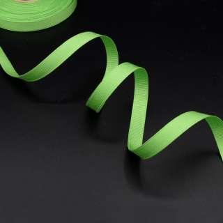 Лента репсовая 10мм зеленая светлая