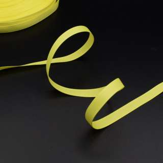 Лента репсовая 10мм желтая неон