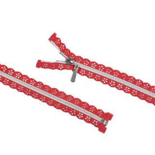 молния ажурная спиральная М-68 тип-7 красная