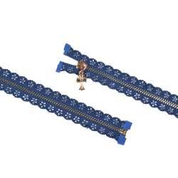 Молния ажурная металл М-70 Тип-7 разъемная синяя
