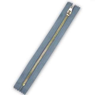 молния металл М-25 Тип--3-5 неразъемная х/б серо-голубая
