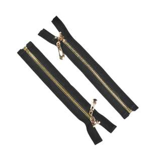 молния металл М-19 разъемная тип-7 черная золото