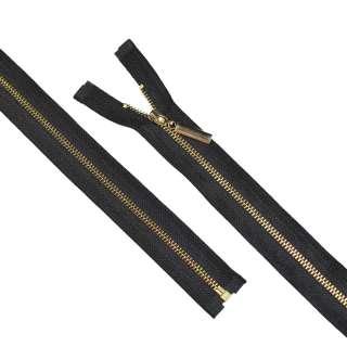 блискавка метал М-70 роз'ємна тип 5 чорна золото