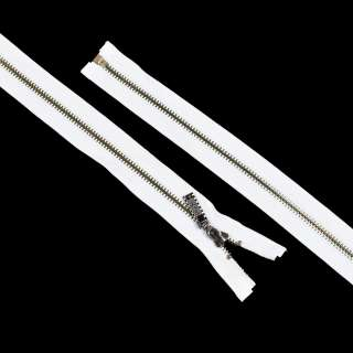 блискавка метал М-70 роз'ємна тип-7 біла