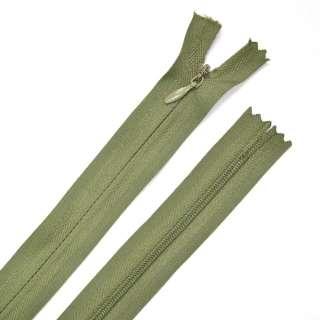 Блискавка потайна М-15 Тип-3 нероз'ємна 1 бігунок болотно-зелена бавовняна
