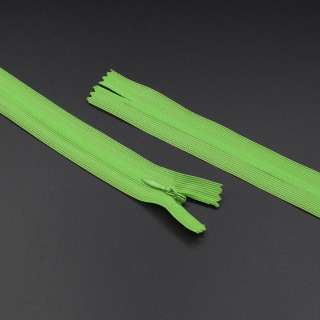 блискавка потайна нераз'ем. 1бег яскрава зелень 20см нейлон