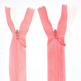Блискавка потайна М-20 Тип-3 нероз'ємна 1 бігунок нейлон рожева