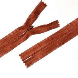 Молния потайная М-20 Тип-3 неразъемная нейлон терракотово-красная