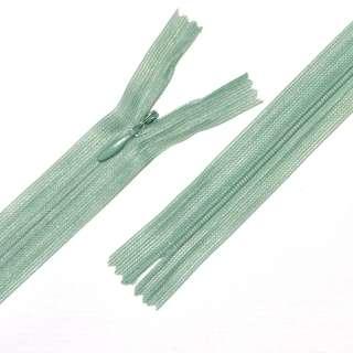 блискавка потайна нераз'ем. 1бег оливки-сіра 20см нейлон